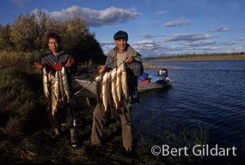 Alaskan catch. Me (R), Duane James (L)