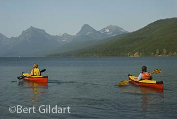 Sea worthy PAKBOATS on Glacier's Lake McDonald