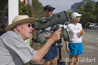 Bob Schuster with spotting scope