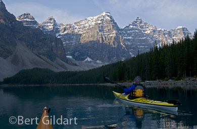 Kayaking Moraine Lake